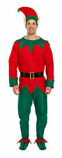 Adult 5 piece Elf Costume Christmas Xmas Fancy Dress Party One Size