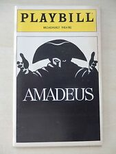 March 1981 - Broadhurst Theatre Playbill - Amadeus - Ian McKellen - Tim Curry