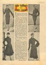 Lady Fashion Paris Tailleurs de Haute Couture Christian Dior 1954 ILLUSTRATION