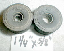 "1 pair German Formula Sponge 1 1/4"" Tires by MILA MIGLIA 1960's slot car NOS med"