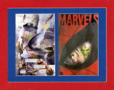 MARVELS Spider-Man Green Goblin Gwen Stacy PRINT PROFESSIONALLY MATTED Alex Ross