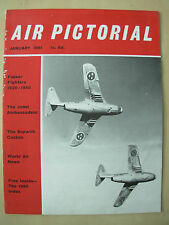 AIR PICTORIAL MAGAZINE JANUARY 1961 SAAB J29F ATTACK & FIGHTER AIRCRAFT