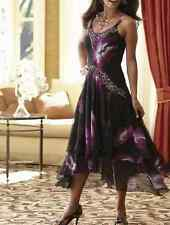 Midnight Velvet Midnight Orchid Dress Beaded NEW Size 1X PLUS