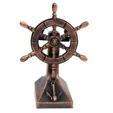 Bronze Metal Ships Helm Ship Wheel Miniature Replica Die Cast Pencil Sharpener