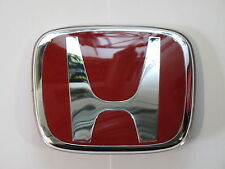 GENUINE HONDA TYPE R BADGE EMBLEM RED H GRILL 86mmx70mm 75701-S6M-Z01