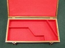 PISTOL GUN PRESENTATION CASE WOOD BOX COLT SAA SINGLE ACTION ARMY COWBOY 7½ LONG