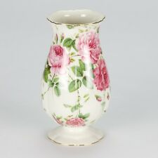 NEW Vintage style Rose Vase Jar shabby chic porcelain chic high tea white pink