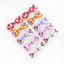 10PCS Baby Kids Girls Children For Minnie Mouse Hair Clips Bow Grips