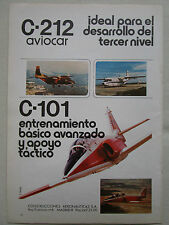 1982 PUB CASA C-212 AVIOCAR C-101 MILITARY TRAINER ORIGINAL SPANISH AD