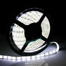 5M 5630 300 led Waterproof 12V DC Pure White Flexible Strip Light Super Bright
