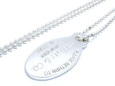 AUTH TIFFANY&Co. SILVER 925 RETURN TO TIFFANY OVAL TAG NECKLACE (DH33184)