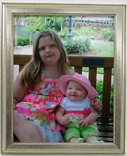 8x10 Silver Leaf Wood Photo Picture Frame 8 x 10 New