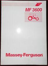 Massey Ferguson Schlepper MF 3600 Bedienungsanleitung