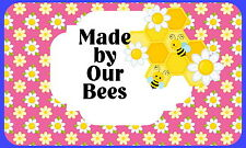 21 HONEY BEE KEEPING,PERSONALISED GLOSSY CRAFT STICKERS, SEALS LABELS(215)