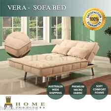 WHOLESALE Modern Design Sofa Bed Lounge 3 seater Beige Micro Fabric and 2 pillow