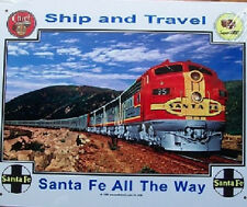RAILROAD TIN SIGN- Santa Fe / Diesel / Trains / Art