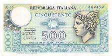 Italy  500 Lire  20.12.1976  Series K 16  circulated Banknote