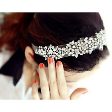 Lace Rhinestone Net Yarn Hair Head Bands Hoop Accessories Hairband Headbands SH
