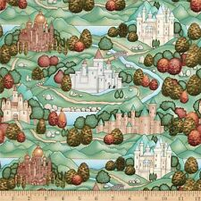Enchanted Kingdom Castle  Cotton Quilt Fabric RJR Dan Morris BFab
