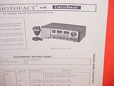 """1976 TEABERRY CB RADIO SERVICE SHOP MANUAL MODEL """"STALKER TWO"""""""