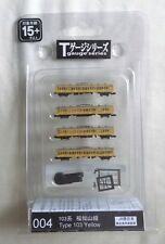 T Gauge Eishindo 004  TYPE 103 YELLOW 4 Car Set Never Used FREEPOST