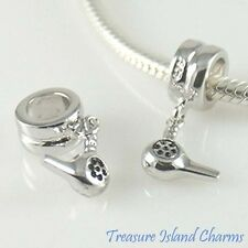 STYLIST HAIR DRESSER DRYER .925 Sterling Silver EUROPEAN EURO Dangle Bead Charm