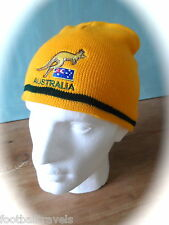 AUSTRALIA CREST WINTER BEANIE Hat Ideal For Fans Of Rugby Football Cricket