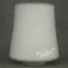 SUPER SOFT BRUSHED YARN OPTIC WHITE 500 CONE 3 PLY HAND MACHINE KNIT MOHAIR FEEL