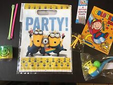Minions Pre Filled Goody Bag, Ready Made Birthday Party Loot Favours
