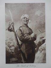 1915 THE SMILE OF VICTORY CHEERY TOMMY PICKELHAUBE WWI WW1