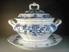 BLUE DANUBE, JAPAN, HUGE SOUP TUREEN, LID, AND UNDERPLATE,BLUE AND WHITE, PRETTY