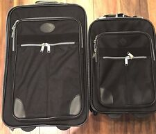 New Old Stock Vintage Enron Delta Airlines Luggage Set w/ Original Box! History!