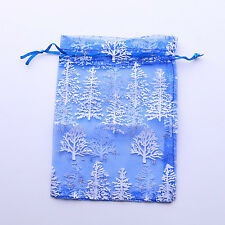 20 Christmas Tree Organza Pouch Gift Bag 13x18cm 120312