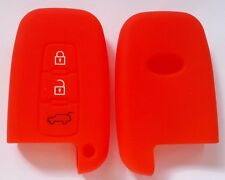 RED SILICONE CAR SMART KEY COVER for HYUNDAI VELOSTER SR IX35 ACCENT ELANTRA I30