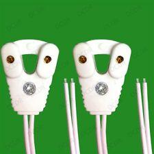 4x T8 Fluorescent & LED Tube Lamp Holder Socket Fittings, 58cm Cables (G13 Base)