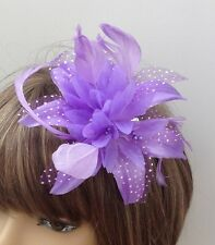 New Lilac Hair Flower Fascinator On Comb Weddings Bridesmaids Hen Party's
