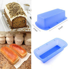 Food-Grade Silicone Loaf Square Wave Bottom Bread Cake Mold Baking Pan 4*9 inch