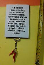 TARGA 10x15cm corno porta fortuna casa negozio no credito scio' horn charms