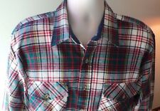Mens Shirt Backpacker SZ L  Plaid  Long Sleeve, Button-Front, %100 Acrylic Xmas