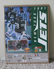 VINTAGE 1991 NEW YORK JETS POSTER SHRINK WRAPPED KODAK VERY RARE