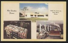 POSTCARD NORTH MIAMI FL/FLORIDA RED FEATHER FARMS RESTAURANT TRI-VIEW 1930'S?