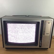 "Vintage 1970's Portable SONY TRINITRON KV-1513 15"" COLOR TV"