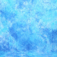 6 x 9 Ft Studio Tie-dyed Blue Musline Backdrop Cotton Background Photography