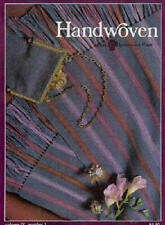Handwoven magazine jan/feb 1983: fur weft, silk, rag vest