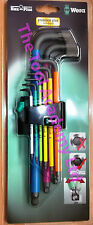"WERA TOOLS ""NEW RELEASE"" COLOURED HEX ALLEN KEYS LONG 1.5mm   10mm IN HOLDER"