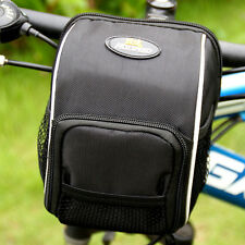 Bicycle Bike Cycling Front Rear Handlebar Pannier Basket Pouch Bag+ Rain Cover