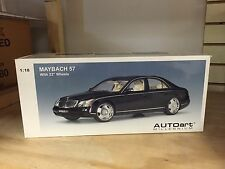 1/18 MAYBACH 57 SWB 22 inch Lowenhart BLACK AUTOART 76154 VERY RARE!