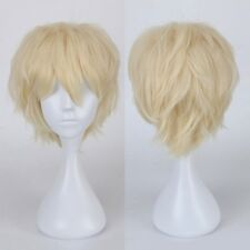 Synthetic Short Full Hair Wig Costume Cosplay Party Fancy Dress Light Blonde Wig