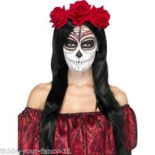 Women's Day Of The Dead Head Band Halloween Fancy Dress Voodoo Horror Hen Night