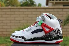 NIKE JORDAN SPIZIKE BG GS 6.5 WHITE POISON GREEN UNIVERISTY RED GREY 317321 132